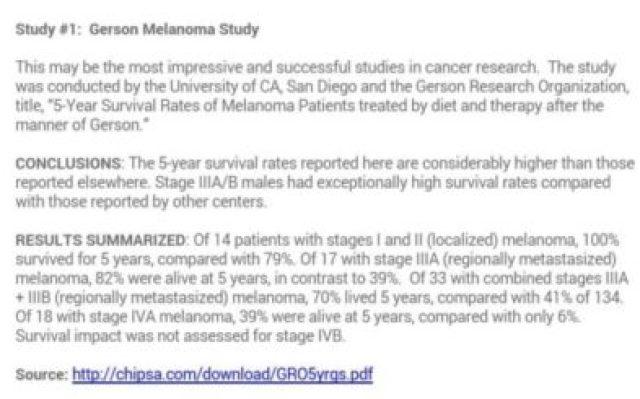 Gerson Melanoma Study