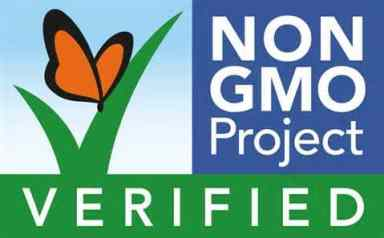 Look for the GMO free verified label when shopping.
