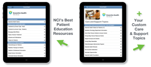 iPad Tablets with NCI Topics and Custom Care and Support