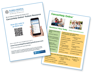 CancerHelp Flyer and Questions for Today from CancerHelp templates