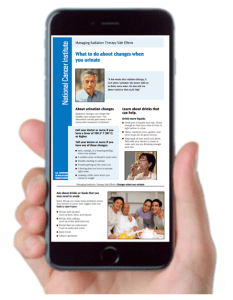 iPhone with Radiation Therapy Fact Sheet on Urinary Problems