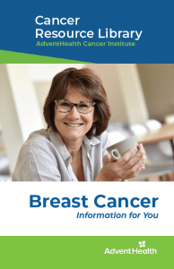 Breast cancer booklet cover