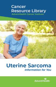 Uterina sarcoma booklet cover