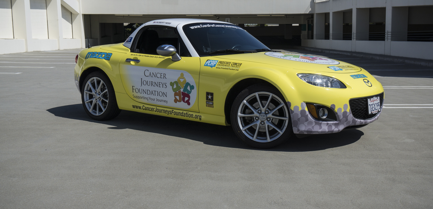 Robert Warren Hess's MX-5 Miata in Cancer Journeys Foundation livery