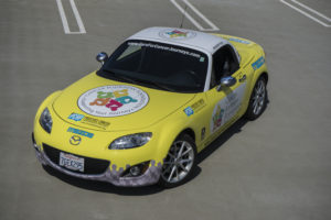 picture of Cancer Journeys Foundation Mazda MX-5 autocross car