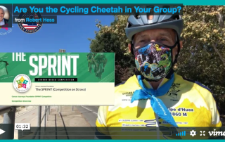 picture of Cancer Journeys Foundation CEO at the 2020 Sprint Challenge segment along Ballona Creek in Los Angeles