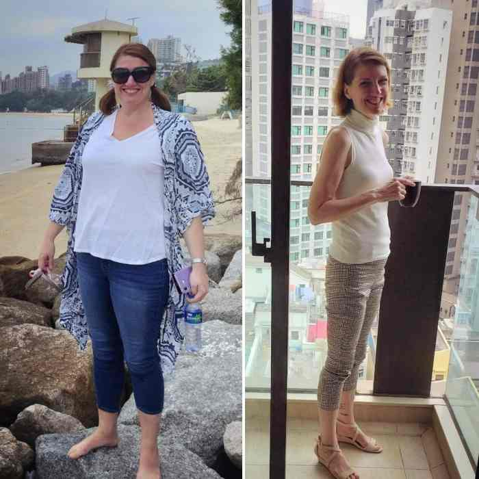 Maggie's healing journey before and after a clean-eating ketogenic diet for cancer