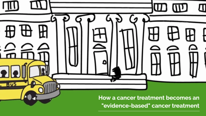 "How a cancer treatment becomes an ""evidence-based"" cancer treatment."
