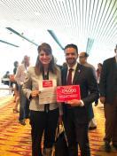 1. Con la Princesa Dina Mired de Jordania, UICC, respaldando nuestra Iniciativa