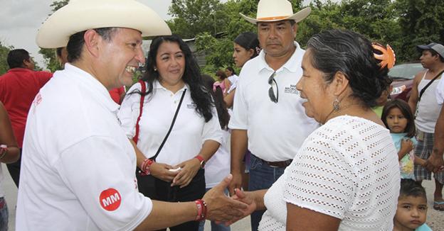 Mario Machuca en beneficio de la poblacion