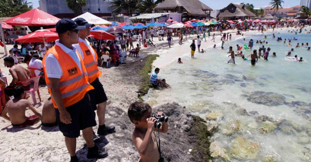 Seguridad playas cancun