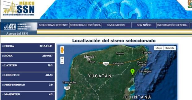 sismo riviera maya domingo