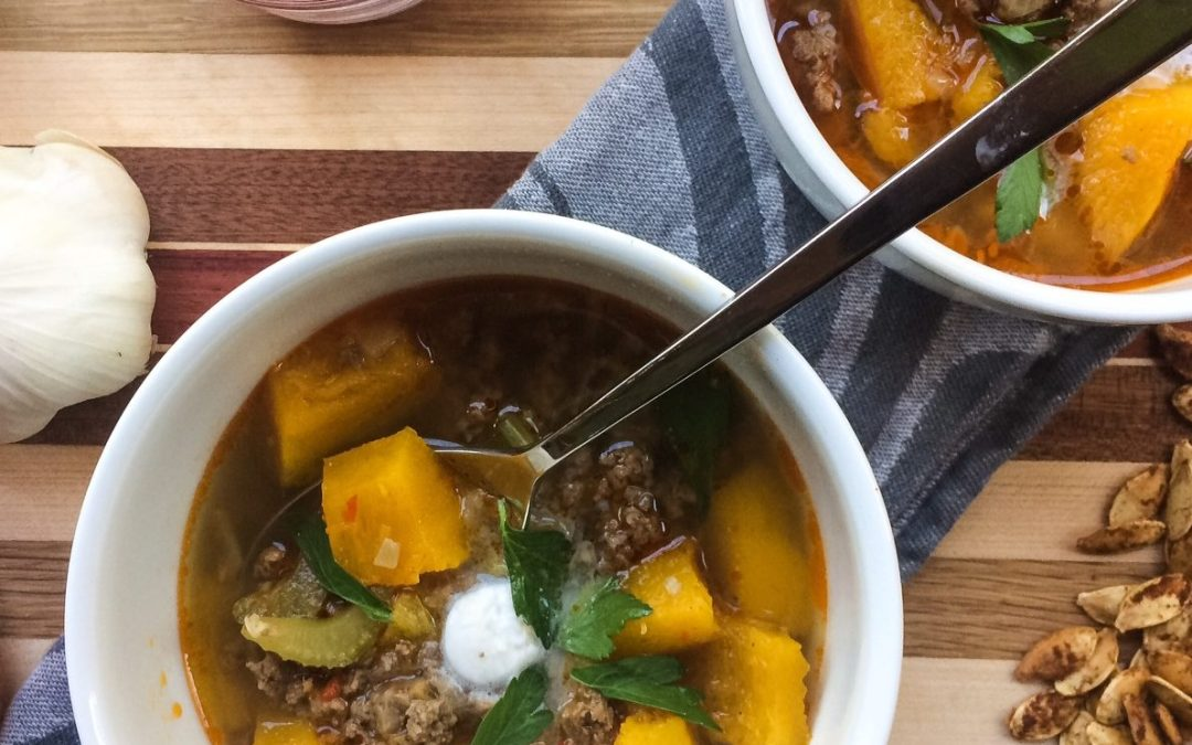 RECIPE: Beef and Pumpkin Soup | Paleo, Whole30 | by Candace Kennedy, Holistic Nutritionist