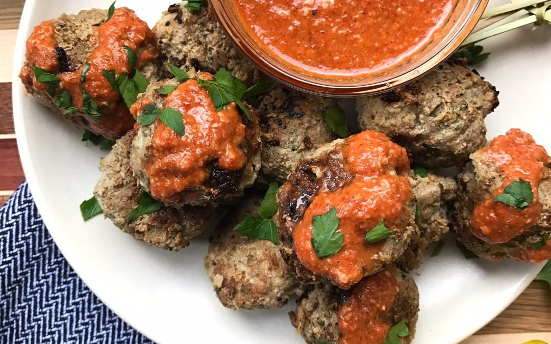 Lamb Meatballs with Muhammara