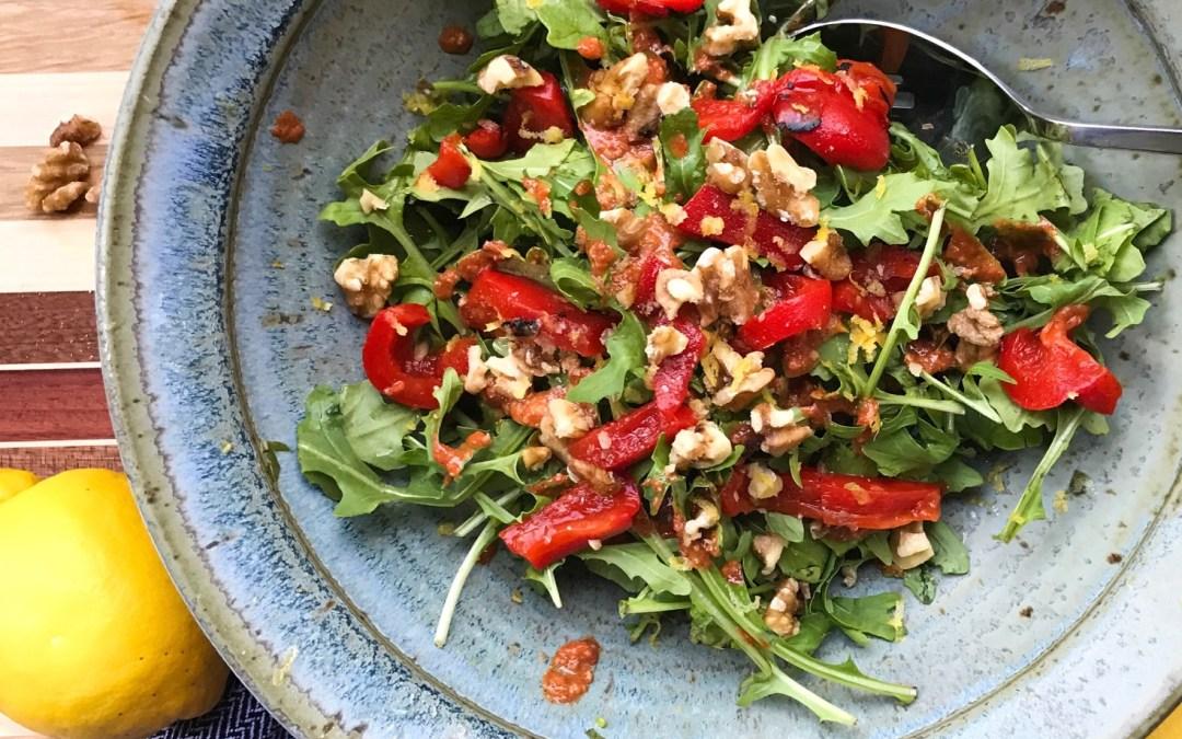 Arugula Salad with Muhamarra Dressing