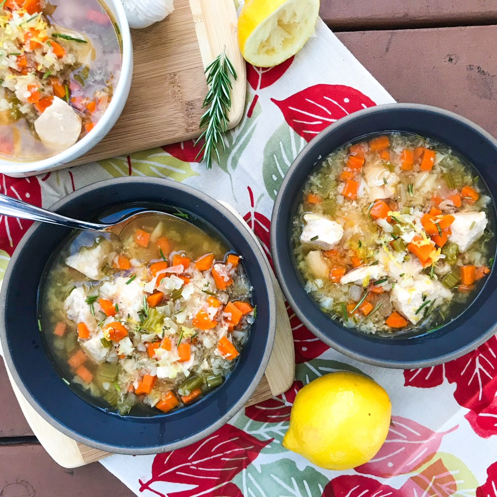Slow Cooker Rosemary And Lemon Chicken Soup
