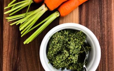 Walnut and Carrot Top Pesto