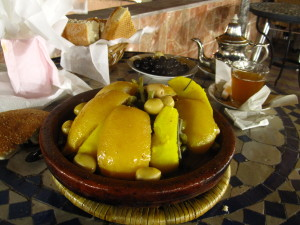 Solo in Morocco - Chicken Tagine with Preserved Lemons; best food on earth