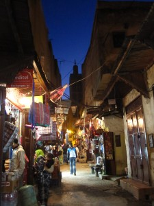 Solo in Morocco - A street in Fez