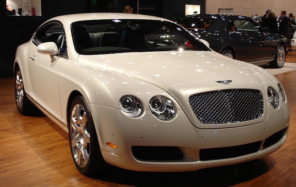 classy car in show floor