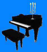 candelabra on piano