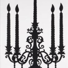 Black Candelabra Silhouette Decor