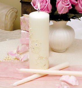 Sparkling Entwined Unity Candle & Taper Set