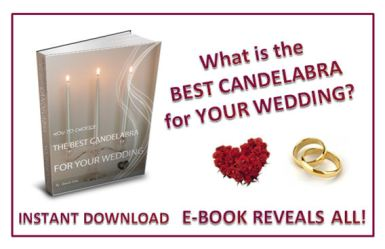 How to Choose the Best Candelabra for Your Wedding