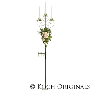 3-Light Aisle Candelabra with Quick Clamp