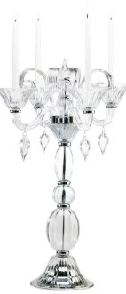 Clear Glass Table Taper Candle Candelabra