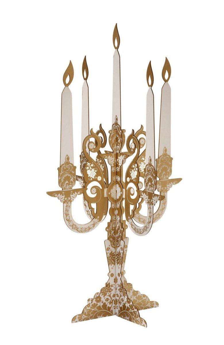 Cheap Elegant Gold Wedding Candelabra