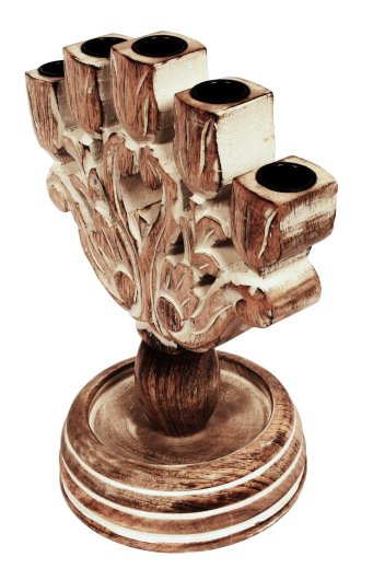 hand carved mango wood Candelabra