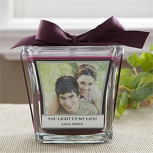 Valentine's Day Gifts - Photo Personalized Candles - For My Love - Muberry