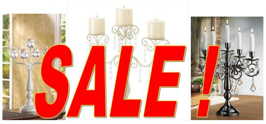 Wedding Candelabras on Sale