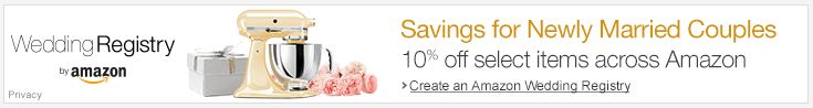 Amazon wedding registry - save 10 percent LONG