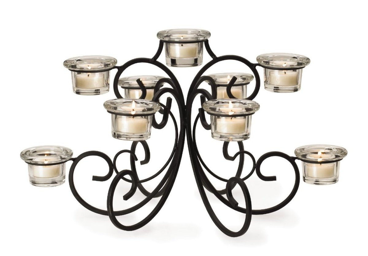 Candelabra Centerpiece with Tealights