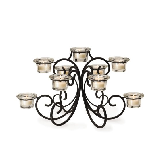 9-Tealight Waterfall Candelabra Centerpiece