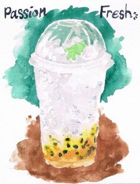 Passion fresh (passion fruit & soda)