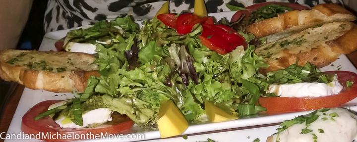The delicious Caprese Salad
