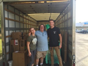 Our extraordinary loading team. MaryBeth, Michael and Asher. I didn't get a photo of DWigth who helped with the first load from Middleburg.