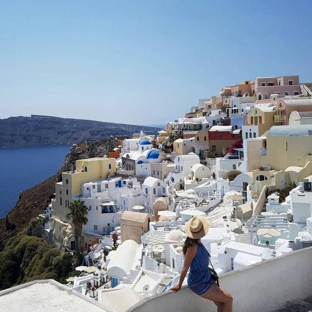 Beautiful Santorini whats the most beautiful place youve seen? Tellhellip
