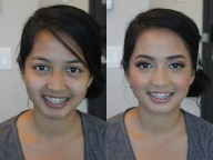 Bridesmaid makeup before and after in association with Faye Smith