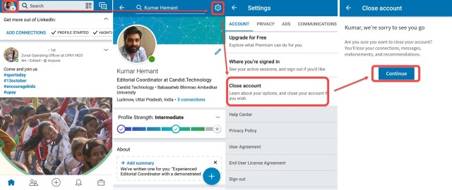 How to deactivate or delete your LinkedIn account?