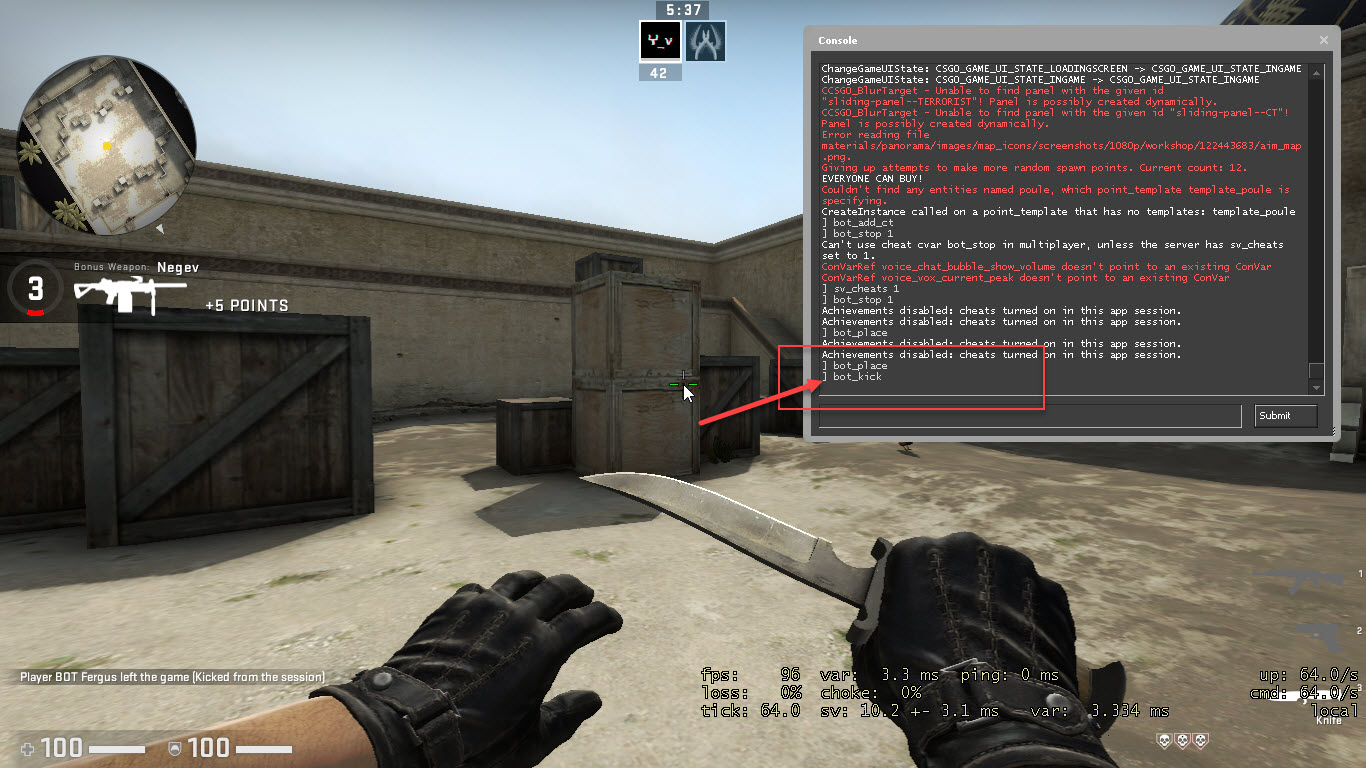 How To Kick Bots In Csgo And How To Kick Yourself In Csgo