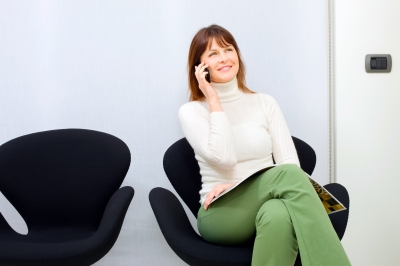 """""""I just sit in my comfy chair and chat--and, yup, I feel loads better!"""" (image from freedigitalphotos.net)"""
