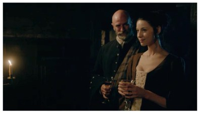 Graham McTavish as Dougal MacKenzie & Caitriona Balfe as Claire Randall