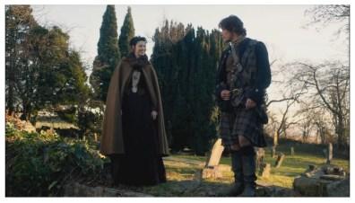 Caitriona Balfe as Claire Randall & Sam Heughan as James Fraser