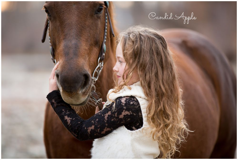 A Girl and Her Horse During Fall