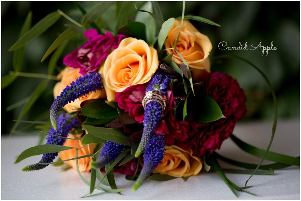 Tangerine Orchid Kelowna wedding bouquet