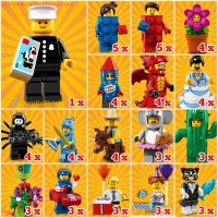 LEGO Collectible Minifigures Series 18 box distribution